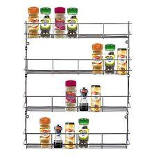 4 Tier Cuisine Rack Herbes Bocal à épices armoire de stockage sur porte Mural Étagère