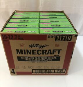 Minecraft Creeper Crunch Cereal 10 BOXES  12.7oz Game Code Limited Edition 06/21