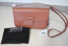 Armani Collezioni crossbody bag purse light brown leather New Tag