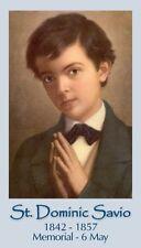 ST DOMINIC SAVIO PRAYER CARD (wallet size)