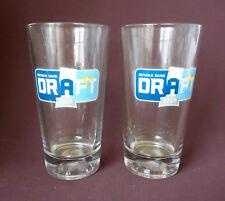 TAMPA BAY RAYS Pint Beer Glass DRAFT ROOM Cool Baseball Bottom Set of 2