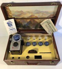 Rare Vintage Spartus Press Flash Camera & Bulb Store Display Box Carry Kit W PW