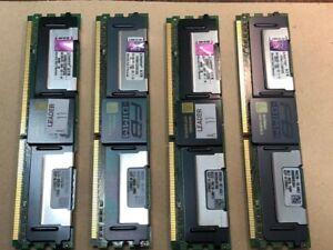 4 pieces x Kingston KVR667D2D8F5/2G 2GB FB DIMM DDR2-667 CL5 ECC Server Memory