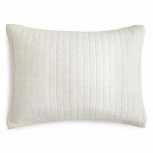 "HUDSON PARK Collection Natalya Quilted STANDARD pillowsham-LIGHT TAN- 20""x30"""