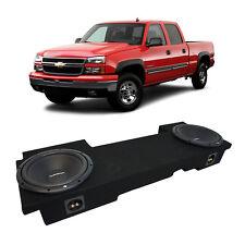 """01-06 Chevy Silverado HD Crew Truck Rockford Prime R1S410 Dual 10"""" Sub Box 2 Ohm"""