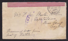 Natal South Africa 1901 Cover Diyatalawa Prisoner of War Camp Under Martial Law