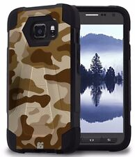 Beyond Cell Shell Case Hyber 2 For Samsung Galaxy S7 Active Desert Storm Camo...