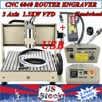 USB 3Axis CNC 6040 Router Engraver 3D PCB Caving Machine 1.5KW VFD +Handwheel