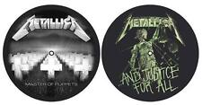 Metallica DJ SLIPMAT Feltro Tappeto Master of Puppets and Justice for All - 2er Set