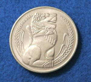 1973 Singapore 1 Dollar - Singapore Lion - Only 356K Minted - See Pictures