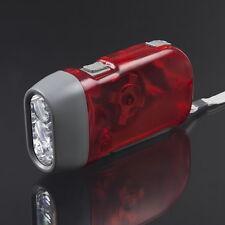 3 LED Dynamo Wind Up Flashlight Torch Light Hand Press Crank NR Camping CC