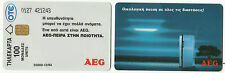 GREECE GREEK PHONE CARD – AEG - 12/94 – 35.000 TIRAGE – USED - RARE