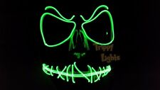 Jack Skellington EDC Rave Festival Halloween Costume Handmade GREEN LightUp MASK