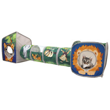 New listing Kitty City Pop Open Jungle Combo,Play Kennel,Cat Bed & Toys Made of polyester