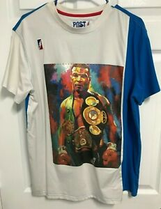 """MIKE """"Iron"""" TYSON Men Display All Champion Belts Graphic T-Shirt XL Post Game"""