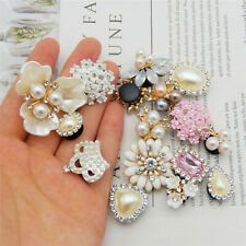 16-pack Mix Alloy Shoe Charm Pearl Rhinestone Flower For Clog Buckle Jewelry DIY