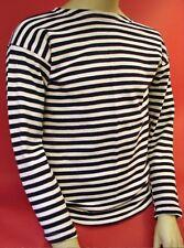 Soviet Russian NAVY Naval TELNYASHKA Black Striped SHIRT L/XL hi Quality cotton