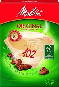1 Pack Melitta 102 Coffee Filter Papers (80pk Filters)