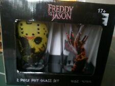 Freddy Vs Jason 16 oz Glass Set-Pint Nightmare Elm Friday the 13th Great