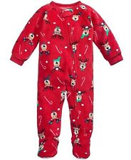 Family Pajamas Unisex Baby & Toddler 1-pc Reindeer Footed Pajama 24 Months