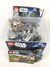Gros Lot Lego Star Wars Avec 30 Figurines MiniFigures + Vaisseau + Notice 75014