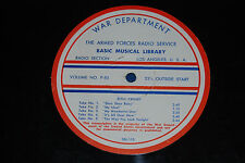 "16"" Radio Transcription AFRS Basic Musical Library Bing Crosby, Count Basie"