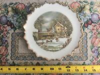 Currier + Ives The Farmers Home Winter  Collectors Plate Made In Japan