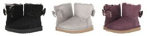 BRAND NEW WOMENS UGG AUSTRALIA STARGIRL BOW SUEDE MINI PULL ON BOOTS SHOES