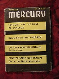 American MERCURY July 1951 MICHAEL SHERIDAN BERNARD WOLF