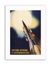 USSR SPUTNIK SPACE SUN FRIEND SOVIET ROCKET Canvas art Prints