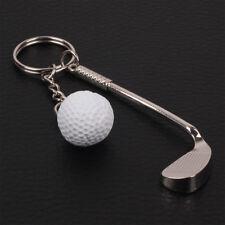 Fashion Mini Sports Silver Metal Golf Keychain Keyring Key Chain Ring Key Fob c