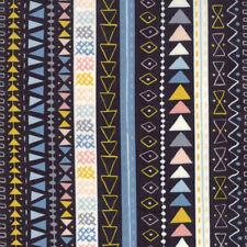 Moda Fabric Wild Free Tribal Stripe Midnight - Per 1/4 Metre