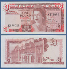 GIBRALTAR 1 Pound  1983 UNC  P. 20 c