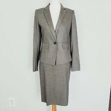Ann Taylor Olive Pencil Skirt Botton Front Blazer Suit Set Size 2