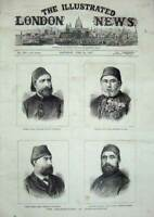 Old Antique Print 1876 Assassination Constantinople Pasha Mohamed Halil 19th