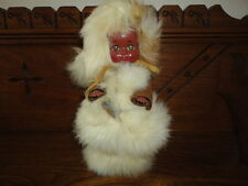 RELIABLE Canada Indian Eskimo Real Fur Baby Doll Suede Clothing 9in Jointed 1956