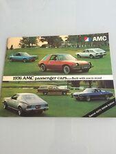 1976 AMC Matador Pacer Gremlin Hornet Ambassador ORIGINAL SALES BROCHURE