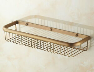 450 mm Home Bathroom Wall Mounted Antique Brass Shower Storage Basket Gba031
