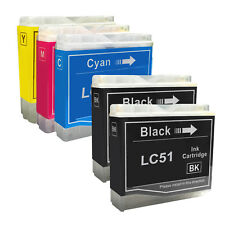 5 PACK New LC51 Ink Cartridge for Brother MFC-230C MFC-235C MFC-240C MFC-260C