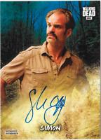 Walking Dead Road to Alexandria Auto Autograph Card Steven Ogg Simon 19/50 Blue