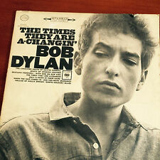 Bob Dylan,Col. CS 8905 The Times They Are A Changin US,LP Stereo 2 eyes