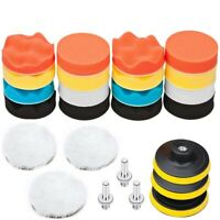 25 Pack 3 inch Polishing Pads, Sponge Buffer Pads Set Kit With M10 Drill Ad Z7A7