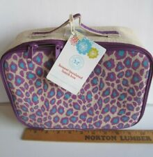 The Honest Company/SoYoung Insulated Leopard Printed Lunch Box Bag Linen Nwt