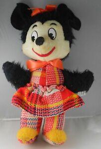 "MINNIE MOUSE Plush Toys STUFFED  J SWEDLIN GUND Mfg  14"" Vintage"