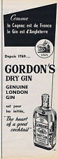 PUBLICITE ADVERTISING 074 1953 GORDON'S dry gin