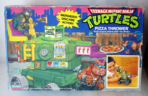 RARE VINTAGE 1989 TMNT MUTANT NINJA TURTLES PIZZA THROWER BANDAI NEW SEALED !