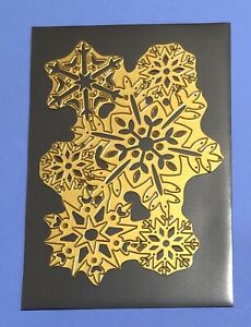 """Anna Griffin SNOWFLAKES Die 7"""" X 5"""" Background Cover Snow Christmas Snowflake"""