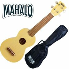 MAHALO Wooden Soprano Ukulele Transparent Maple & Bag Kahiko Series MK1TBS