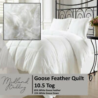 10.5 Tog Goose Feather & Down Duvet / Quilt All Sizes and Duck Feather Pillows