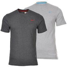 New Men's Nike Logo T-Shirt, Top - Retro Vintage Branded Sports - Grey Charcoal